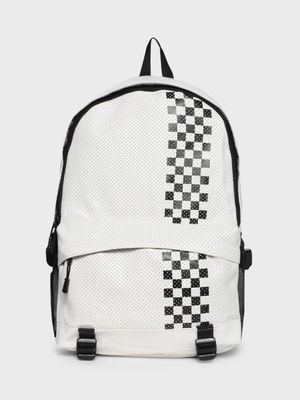 KOOVS Perforated Checkerboard Print Backpack