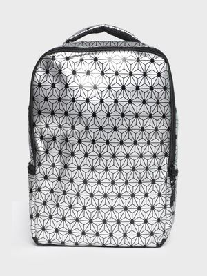 KOOVS Geometric Patent Print Backpack