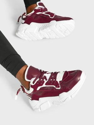KOOVS Bungee Cord Suede Panel Trainers