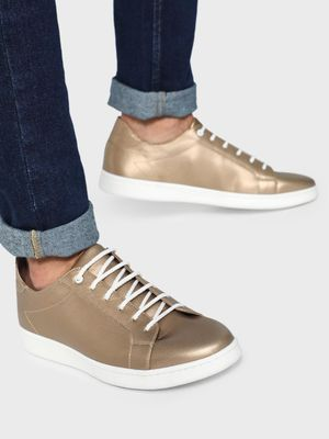 KOOVS Metallic Finish Sneakers