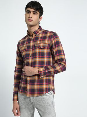 KOOVS Twin Pocket Multi-Check Shirt