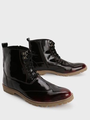 Bolt Of The Good Stuff Mid Top Lace-Up Boots