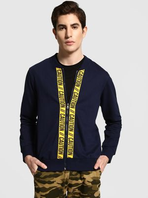 Garcon Caution Tape Baseball Collar Jacket