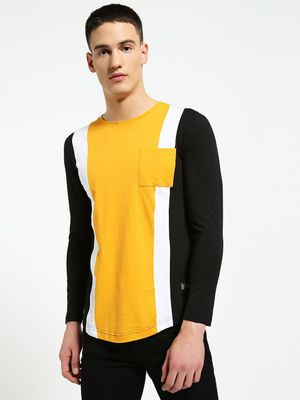Kultprit Colour Block Panel T-Shirt