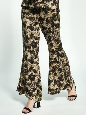 Ri-Dress Abstract Floral Print Flared Pants