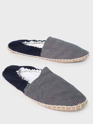 KOOVS Horizontal Stripe Counter Elasticated Espadrilles