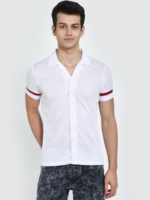 Garcon Cuban Collar Mesh Shirt