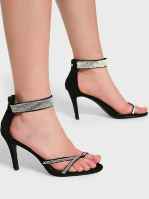 Intoto Diamante Embellished Strap Heeled Sandals