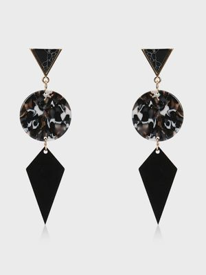 KOOVS Geometric Drop Resin Earrings
