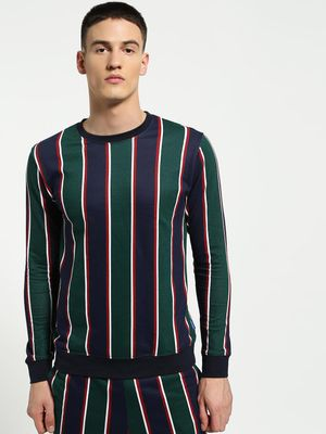Blue Saint Vertical Multi-Stripe Sweatshirt