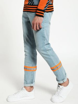 Blue Saint Reflective Stripe Slim Jeans