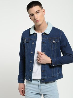 Blue Saint Borg Collar Denim Jacket