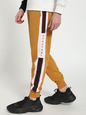 Tiktauli Text Print Side Tape Joggers