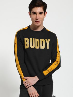 Tiktauli Buddy Text Side Tape Sweatshirt