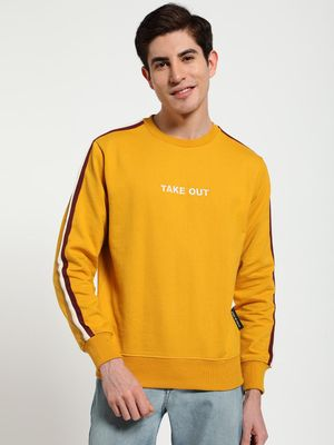 Tiktauli Embroidered Text Side Tape Sweatshirt