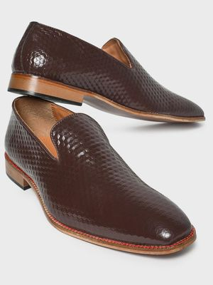 Bolt Of The Good Stuff Diamond Textured Loafers