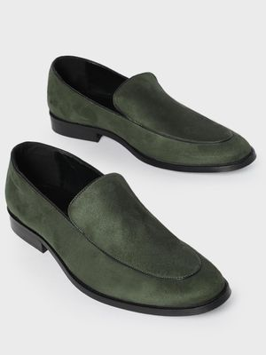 KOOVS Suede Finish Piped Loafers