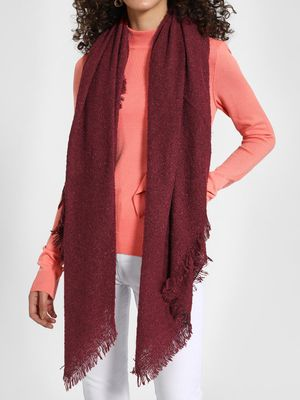 Funky Fish Woven Fringed Scarf
