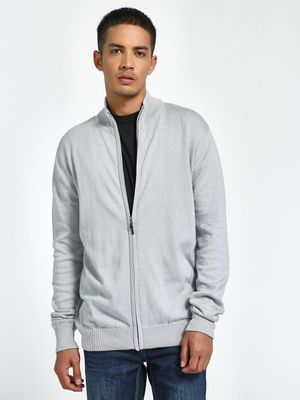 Brave Soul Front Zippered Funnel Neck Cardigan