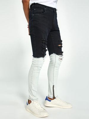 Kultprit Ombre Effect Distressed Skinny Jeans