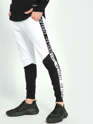 Kultprit Side Tape Colour Block Cut & Sew Joggers