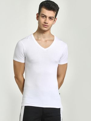 KOOVS V-Neck Muscle Fit T-Shirt