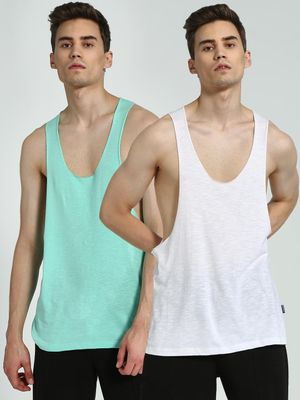 KOOVS Scoop Neck Racerback Vest (Pack Of 2)