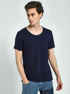 KOOVS Scoop Neck Short Sleeve T-Shirt