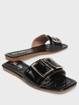 Sole Story Double-Buckle Strap Flat Sandals