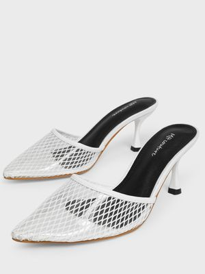 MFT Couture MY FOOT COUTURE Mesh Pointed Toe Heeled Mules
