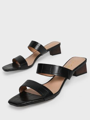 Sole Story Double Strap Block Heeled Sandals