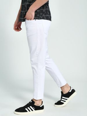 K Denim KOOVS Cropped Skinny Fit Jeans