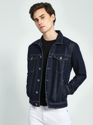 K Denim KOOVS Washed Denim Trucker Jacket