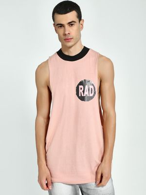 KOOVS Placement Print Crew Neck Vest