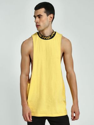 KOOVS Text Print Crew Neck Vest