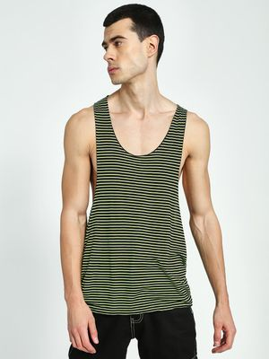 KOOVS Striped Scoop Neck Racerback Vest