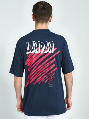 KOOVS London Graphic Placement Print T-Shirt