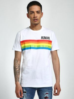 Garcon Human Rainbow Placement Print T-Shirt