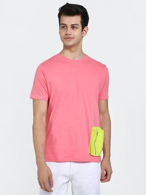 Garcon Contrast Pocket Crew Neck T-Shirt