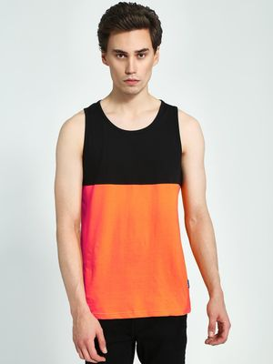 Blue Saint Cut & Sew Colour Block Tank