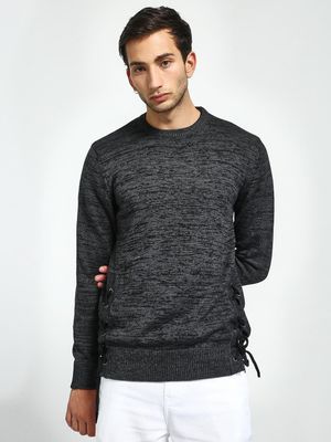 Brave Soul Crew Neck Side Tie-Knot Pullover