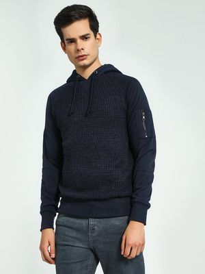 Brave Soul Front Cable Knit Hoodie