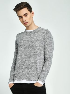 Brave Soul Contrast Lining Knitted Pullover