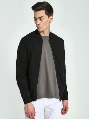 Brave Soul Front Zippered Bomber Jacket
