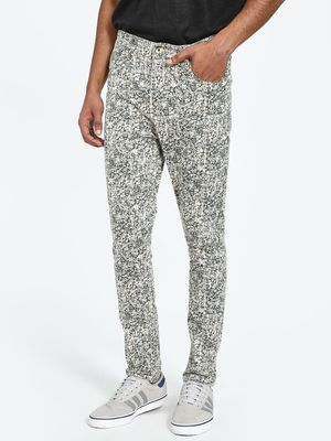 REALM Floral Print Slim Trousers