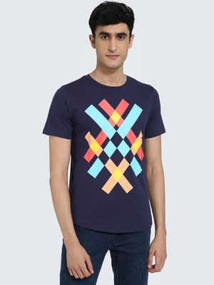 IMPACKT Abstract Print Crew Neck T-Shirt