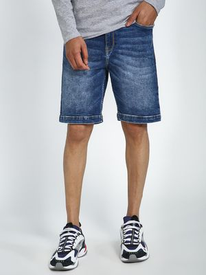 Blue Saint Classic Wash Denim Shorts