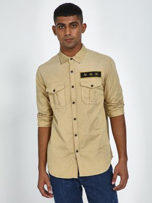 Blue Saint Twin Pocket Patch Detail Shirt