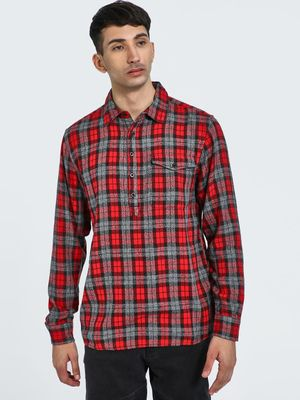 Blue Saint Long Sleeve Plaid Check Casual Shirt