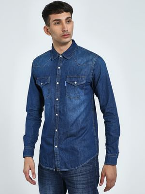 Blue Saint Twin Pocket Chambray Shirt